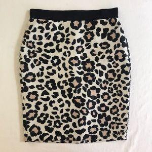 New Leopard print Ann Taylor Skirt